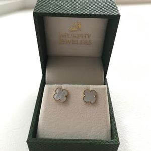 Madison L Mother of Pearl Floral Earrings 14K Gold